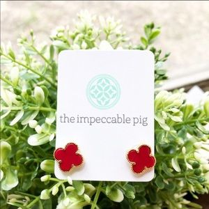 THE IMPECCABLE PIG   MOROCCAN RED CLOVER EARRINGS